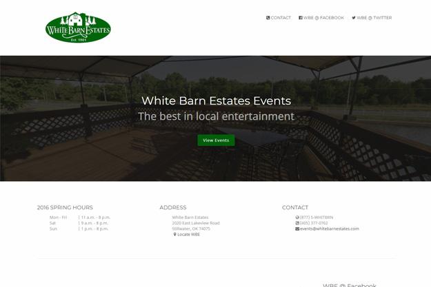 White Barn Estates Events screenshot